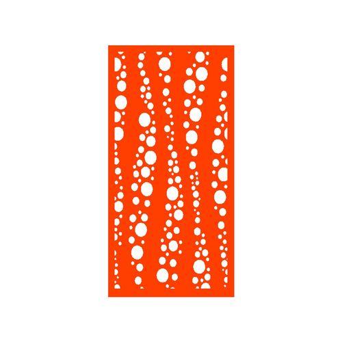 1200 x 2400mm ACP Profile 27 Decorative Unframed Panel - Orange