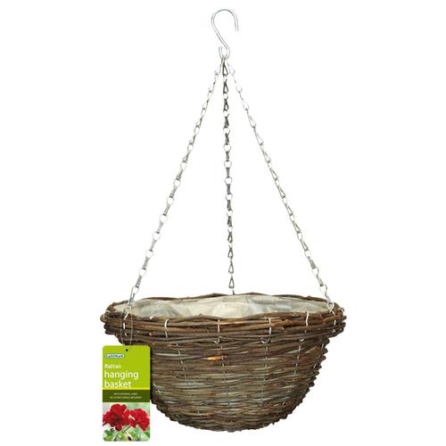 Gardman 35cm Rattan Hanging Basket