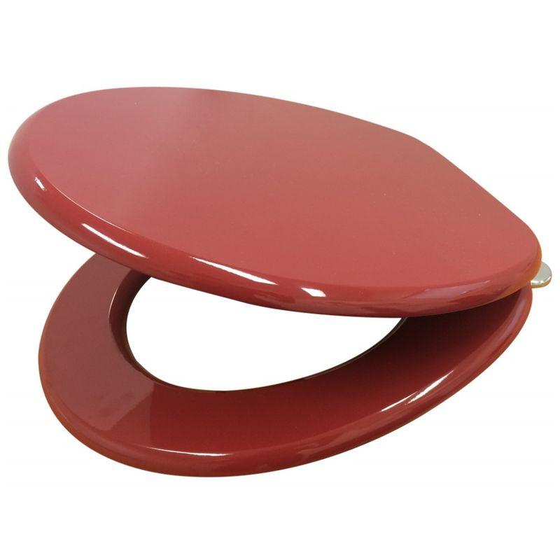 Mondella 430 x 370mm Red PVC Veneer Toilet Seat