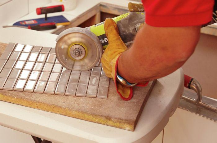 DIY Step Image - How to lay mosaic tiles . Blob storage upload.