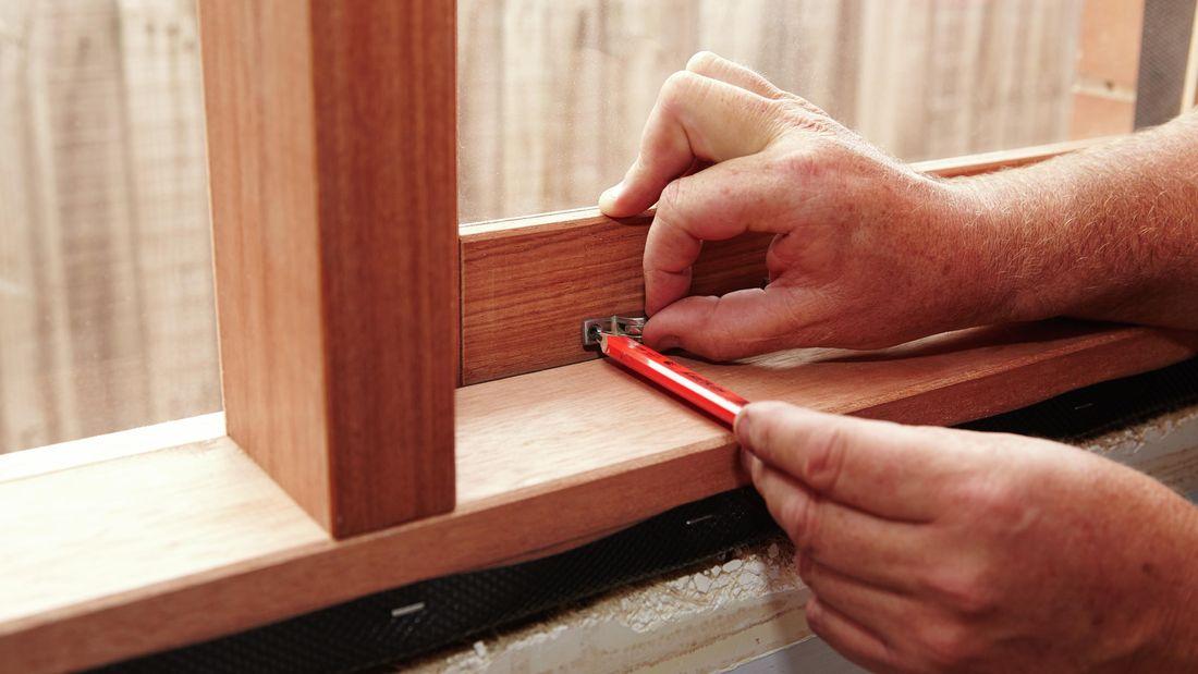 DIY Step Image - How to install casement window stays . Blob storage upload.