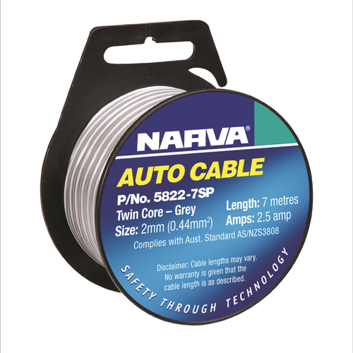 Narva 7m x 2mm 2.5A Speaker Cable