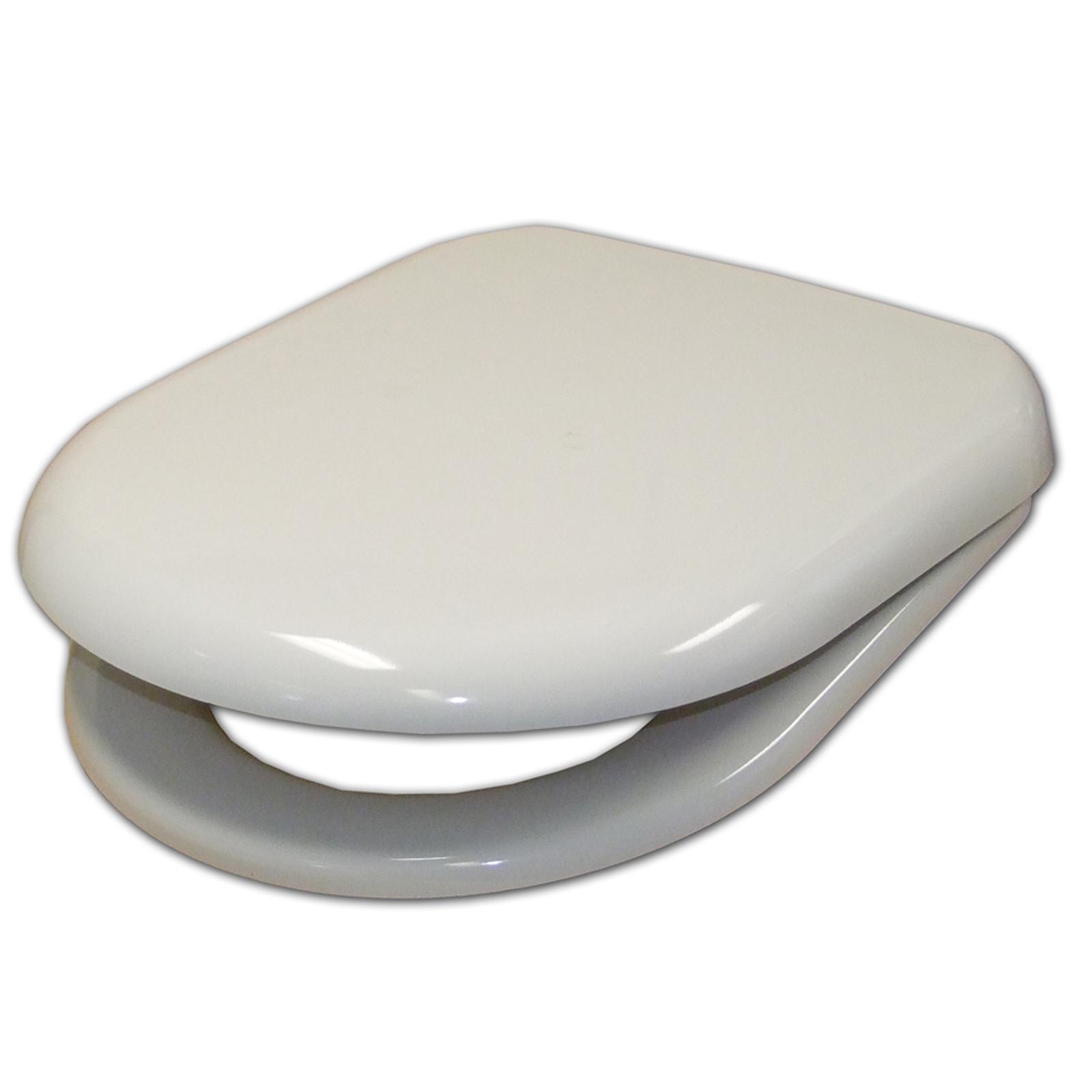 Haron White D Shaped Toilet Seat