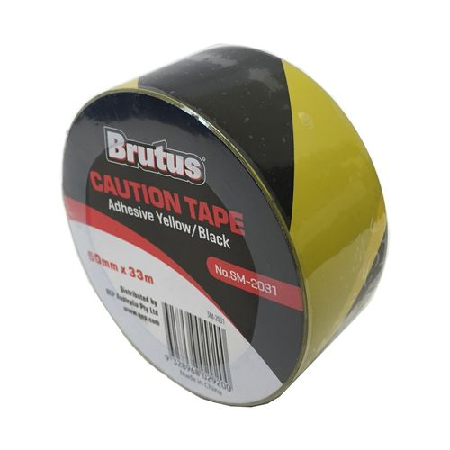 Brutus 50mm x 33m Yellow And Black Caution Tape