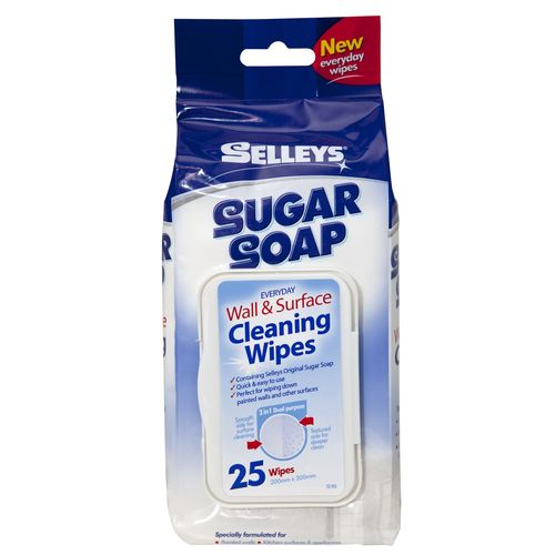 Selleys Sugar Soap Wall Cleaning Wipes - 25 Pack