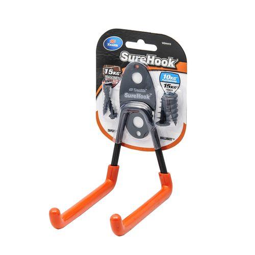 Zenith SureHook Garage U Hook 10-15kg Black