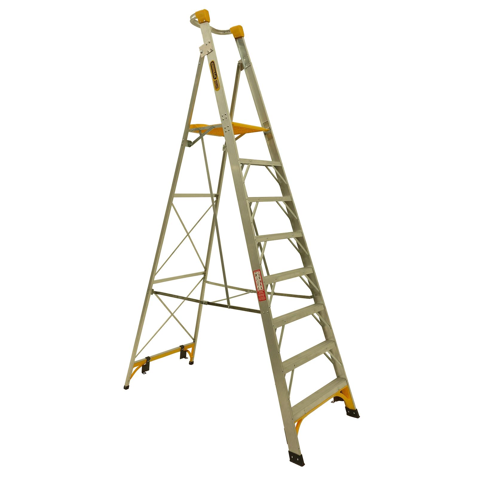 Gorilla 2.4m 150kg Aluminium Platform Ladder