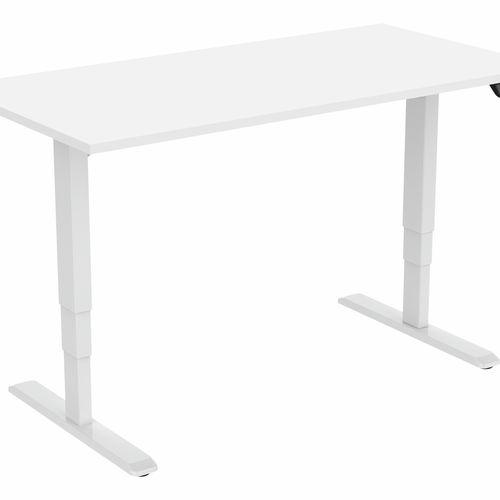 Ergovida White Dual Motor Sit Stand Workstation