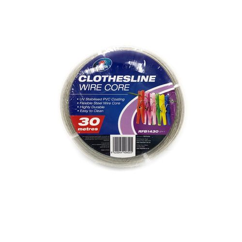 Zenith 3.5mm x 30m Clear Clothesline PVC Galvanised Wire