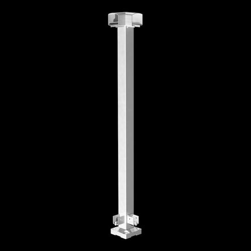 Peak Products 1000mm White Aluminium Balustrade Corner Post