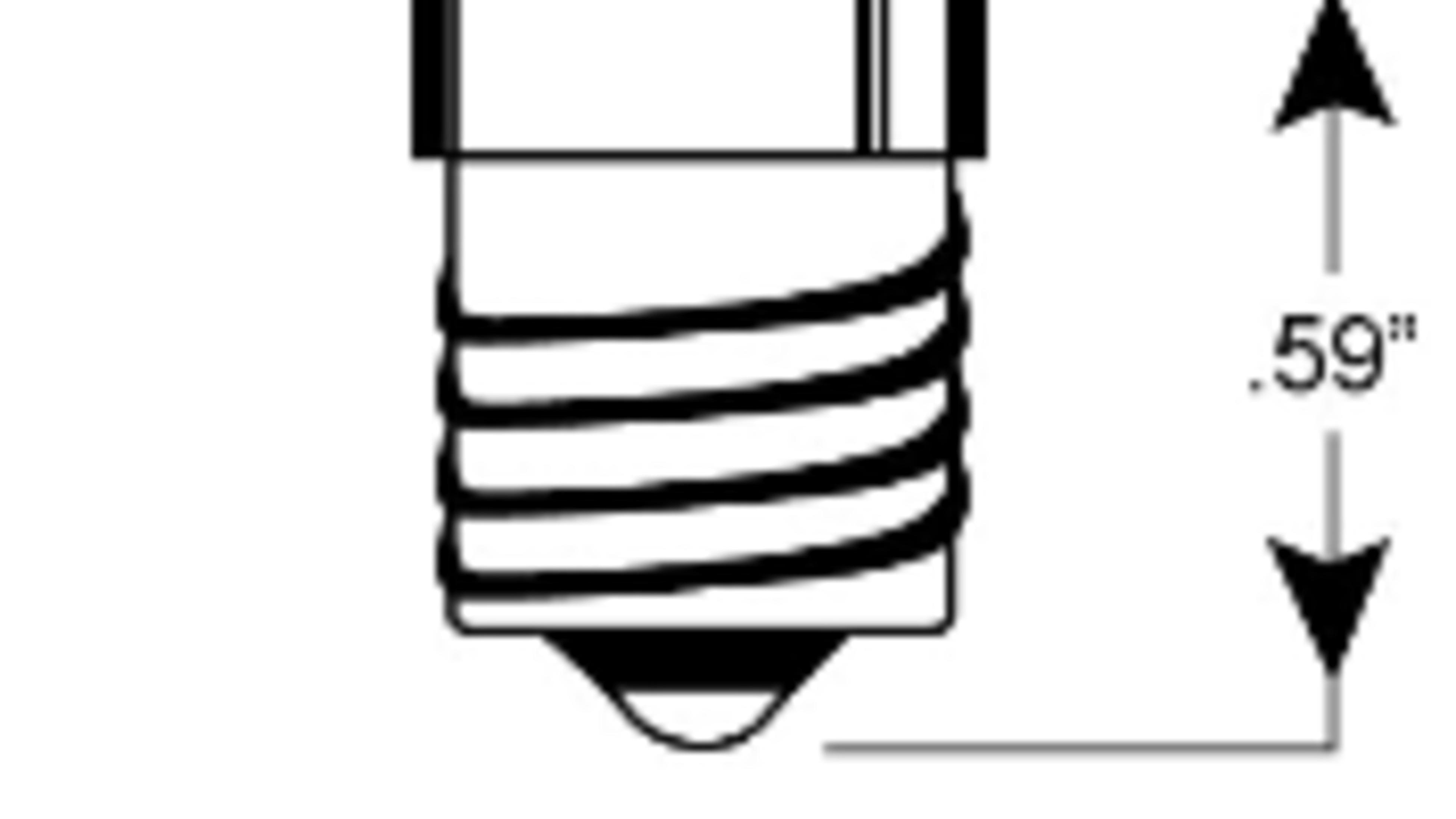 A diagram of a miniature Edison screw globe.