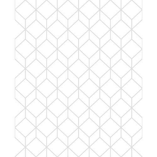 Superfresco Easy 52cm x 10m White / Silver Myrtle Geo Wallpaper