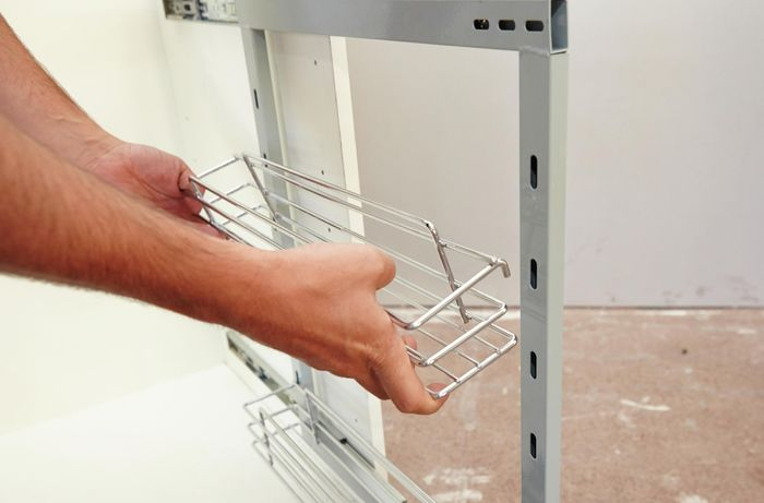 DIY Step Image - How to install undersink storage . Blob storage upload.