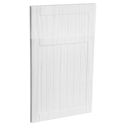 Kaboodle 450mm Country Vinyl 1 Door / 1 Drawer Panel - Provincial White