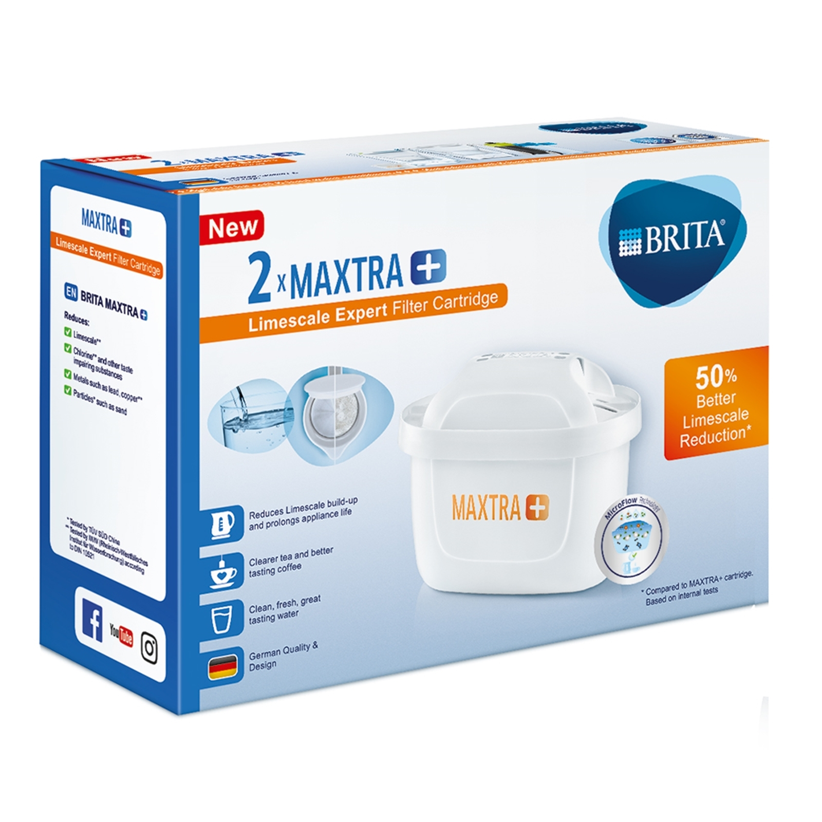 Brita Maxtra Limescale Filter - 2 Pack