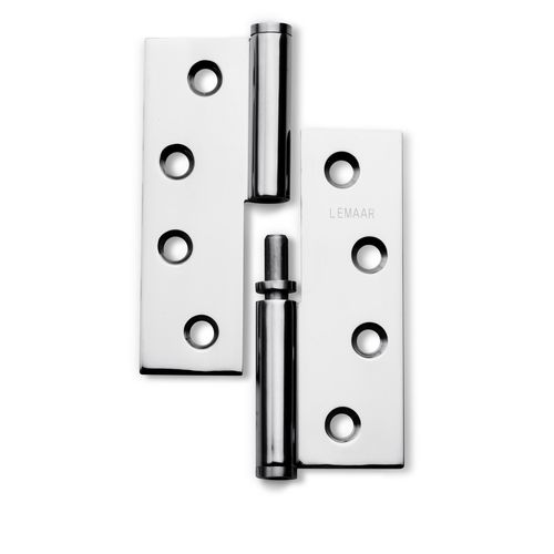 Lemaar 100 x 75 x 2.5mm Polished Stainless Steel Left Hand Lift Off Hinge