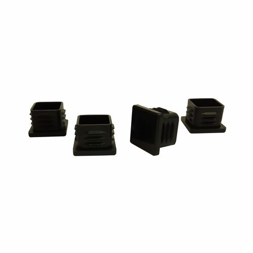 Surface Gard 22mm Black Square Internal Plastic Chair Tips - 4 Pack