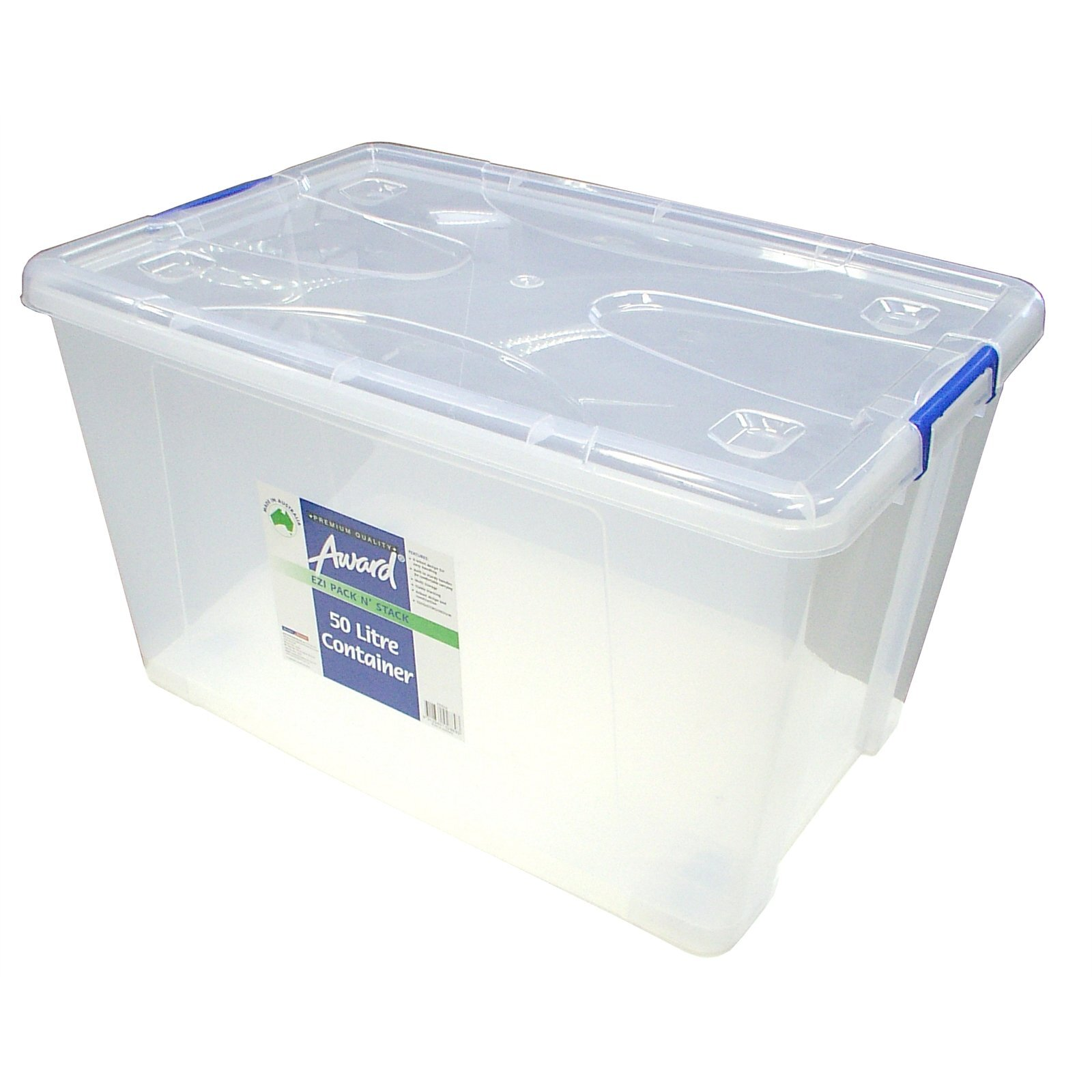 Award Pack N Stack Storage Container with Wheels - 50L