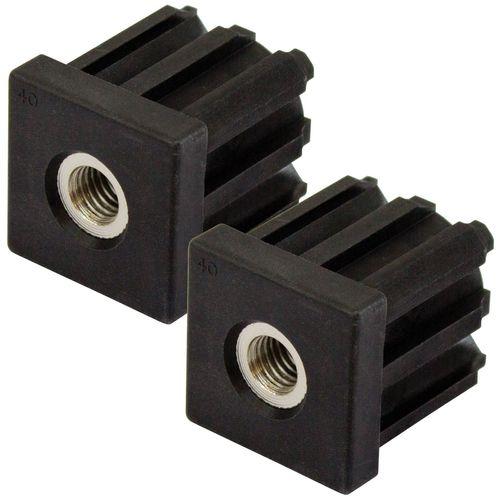 Richmond 40mm x M12 Square Threaded Tube Insert - 2 Pack