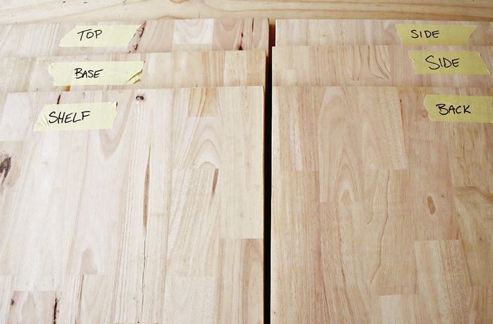 Cut and labelled timber panels