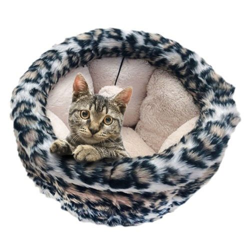 Paws & Claws 40x35cm Madagascar Cat/Pet/Kitten Plush Snuggler Bed Asst Colours