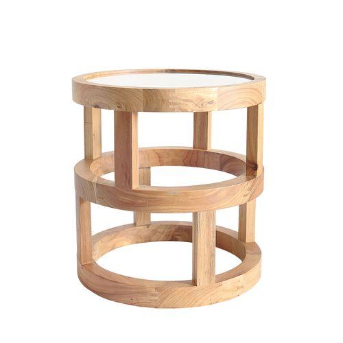 Black Mango 44cm Natural Arlo Elm Wood Side Table