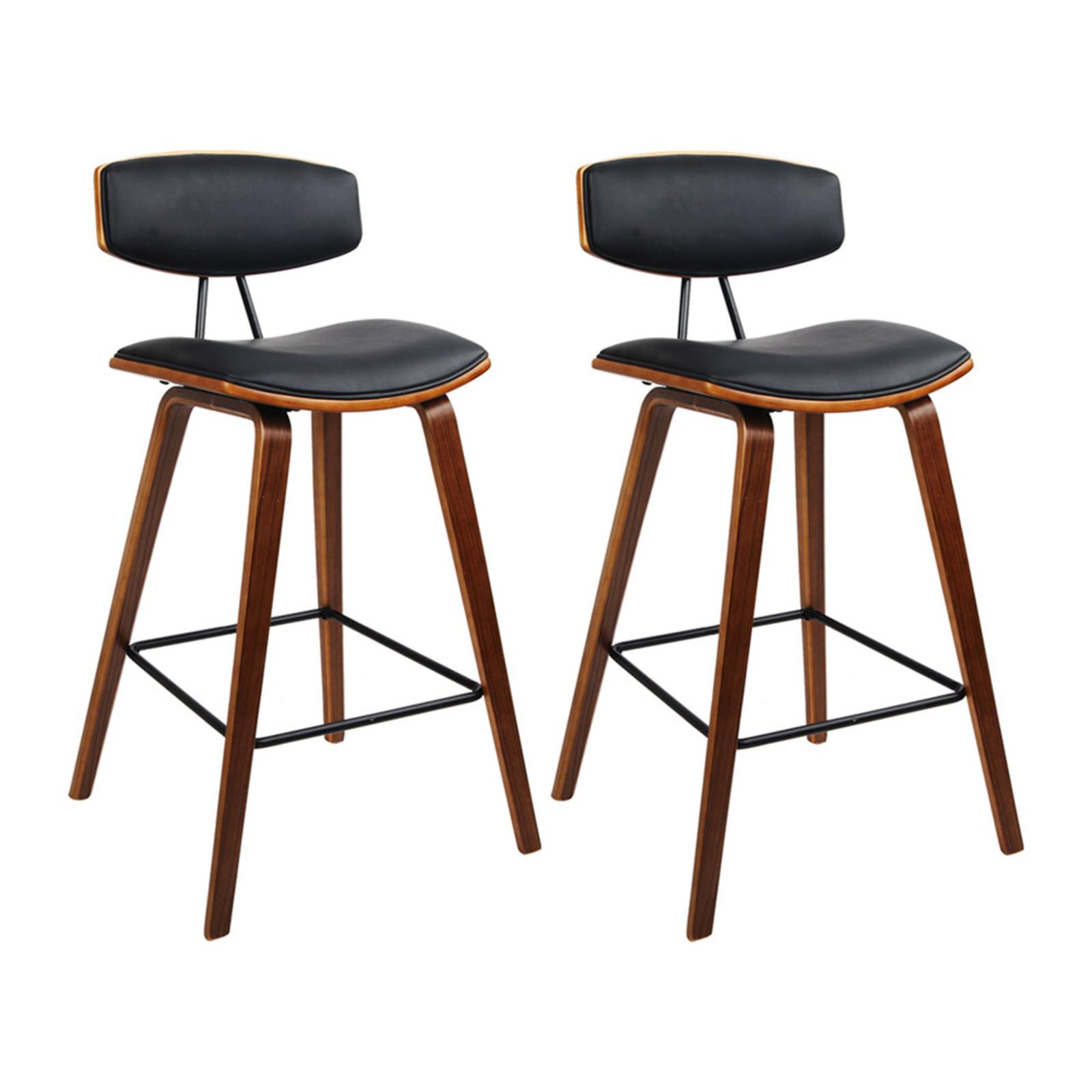 Artiss 9x Wooden Bar Stools Kitchen Bar Stool Dining Chair Cafe Wood Black  8789