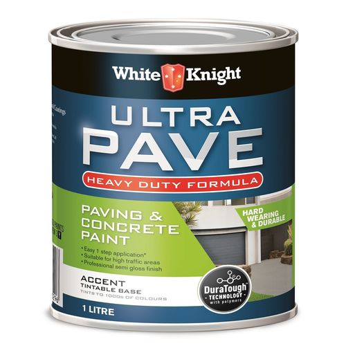 White Knight 1L Accent Heavy Duty Ultra Pave Concrete And Paving Paint