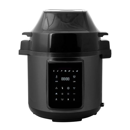 Healthy Choice 6L Air Fryer/Pressure Multi/Slow Cooker for Chips/Meat/Rice BLK