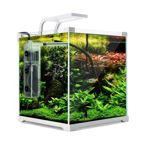 Aquarium Starfire Glass Fish Tank Set Filter Pump 16L