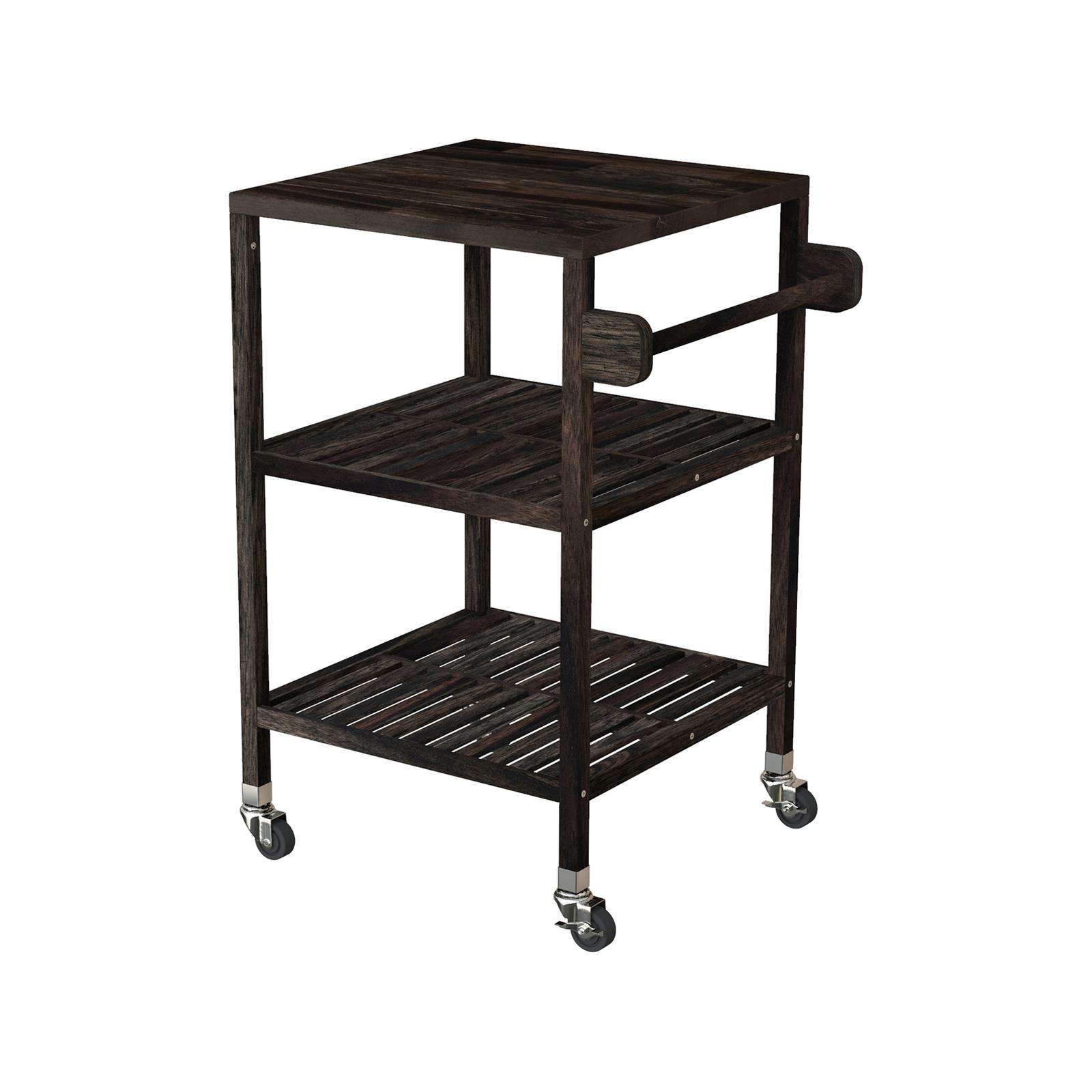 Interbuild 52 x 52 x 85cm Espresso Holger Quattro Kitchen Cart