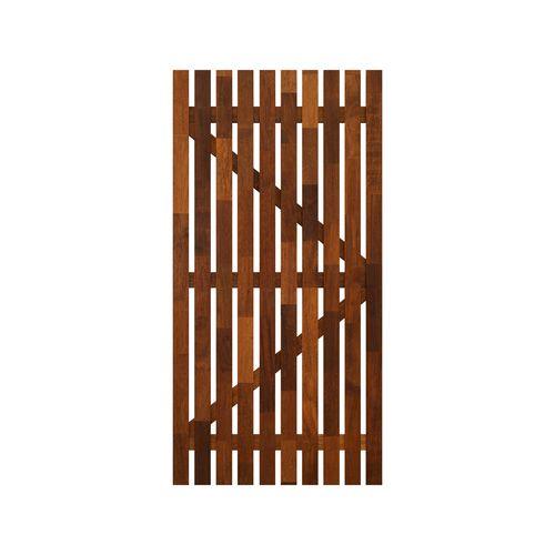 SpecRite 1800 x 900mm Merbau Pre-Oiled Vertical Slat Gate