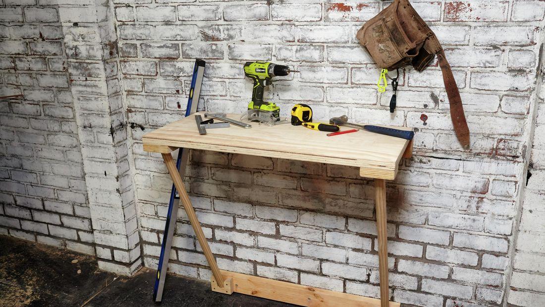 DIY Step Image - How to make a folding workbench . Blob storage upload.