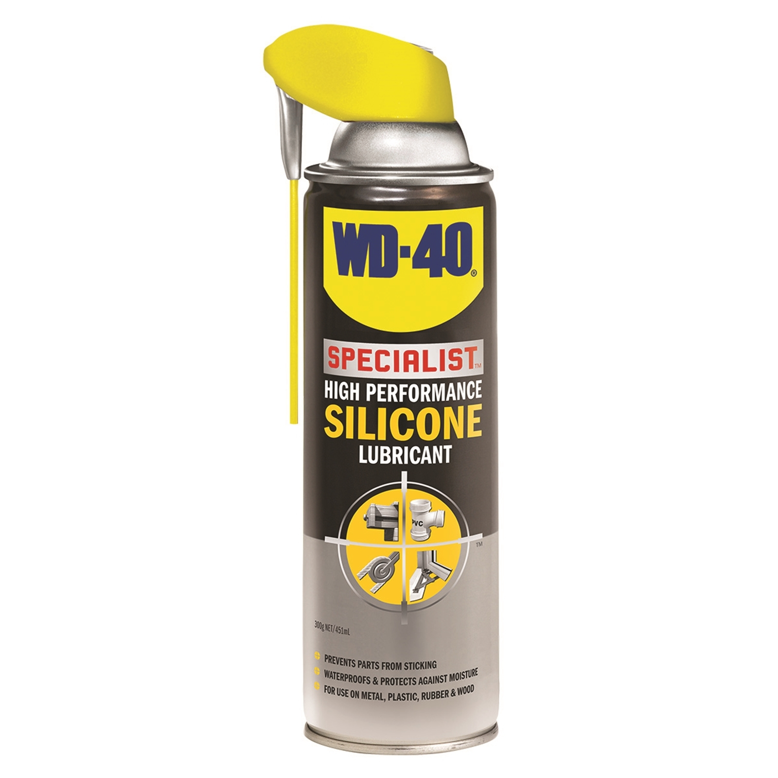 WD-40 Specialist High Performance Silicone Lubricant 300g Clear