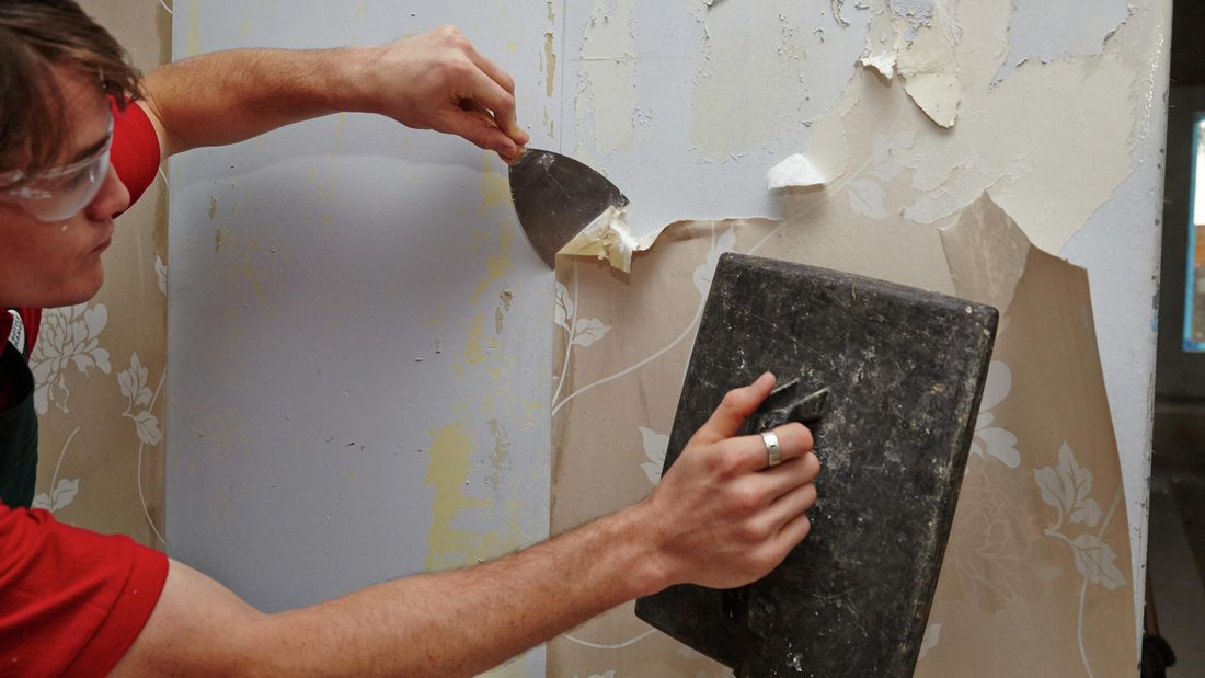 DIY Step Image - How to remove wallpaper . Blob storage upload.