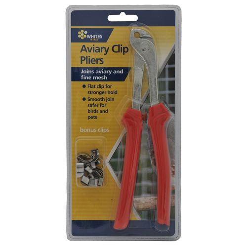 Whites Aviary Clip Pliers With 20 Clips