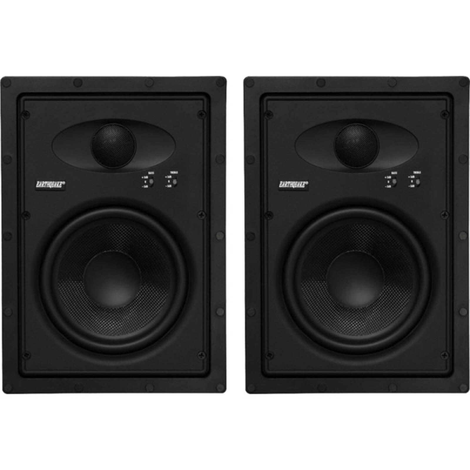 """Earthquake 6.5"""" Edgeless Inwall Speakers Frameless Design For Reduced Visibility/Seamless Blend 6.5"""" Edgeless Inwall Speakers"""