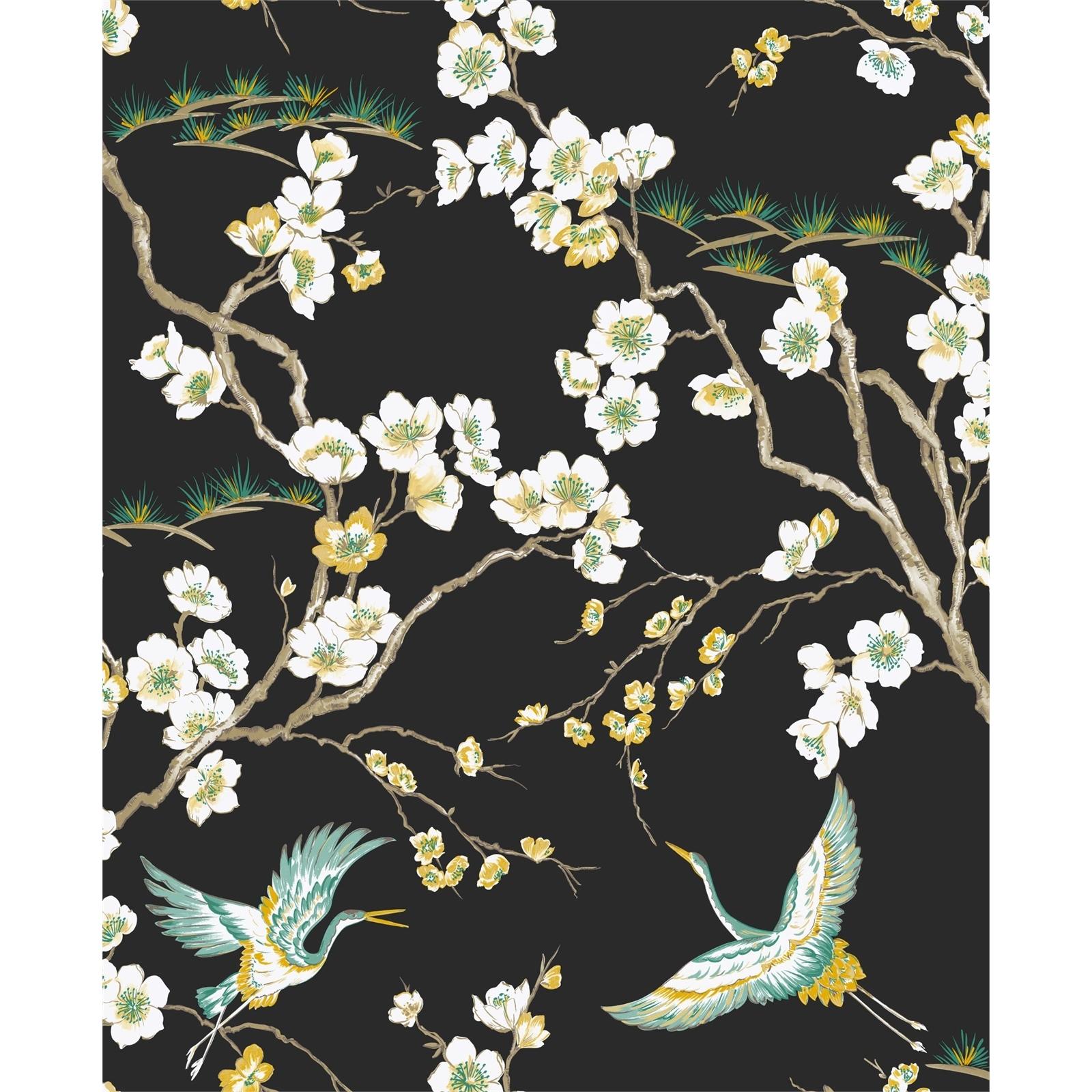 Sublime 52cm x 10m Japan Black Wallpaper