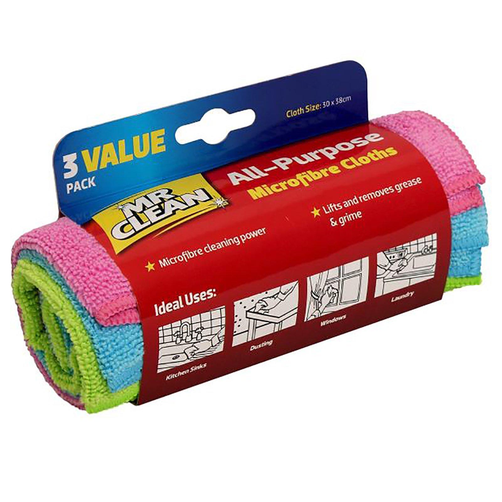 Mr Clean All Purpose Microfibre Cloths - 3 Pack