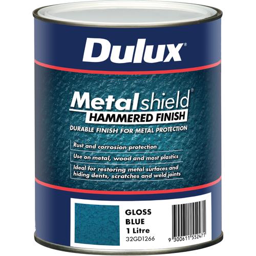Dulux 1L Metalshield Hammered Finish Paint Blue