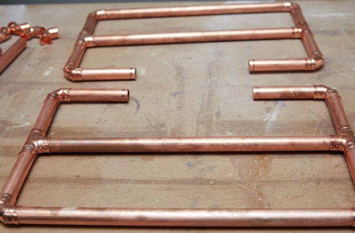 Copper rack semi-built