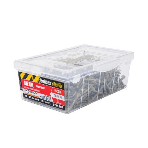 Buildex 10-16 x 45mm Climacoat Metal Wing Tek Screws - 500 Box
