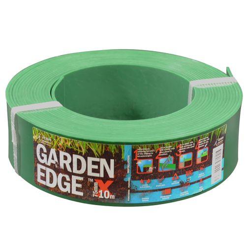 Icon Plastics 75mm x 10m Green Garden Edge