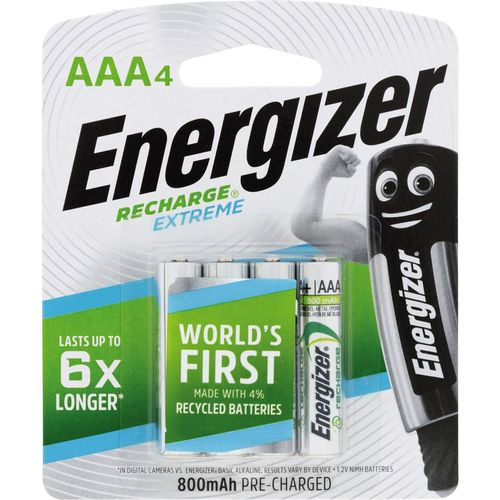 Energizer Rechargeable AAA Batteries - 4 Pack