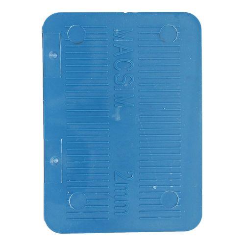 Macsim Fasteners 72 x 100 x 2mm Blue Half Shim - 8 Pack