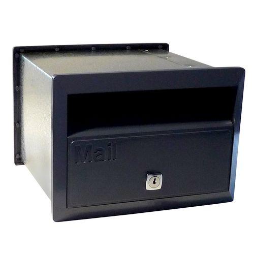 Velox 230mm Black Flexi Front Open Letterbox