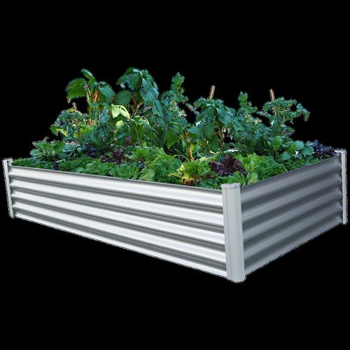 The Organic Garden Co 200 x 100 x 41cm Raised Rectangle Garden Bed - Zincalume
