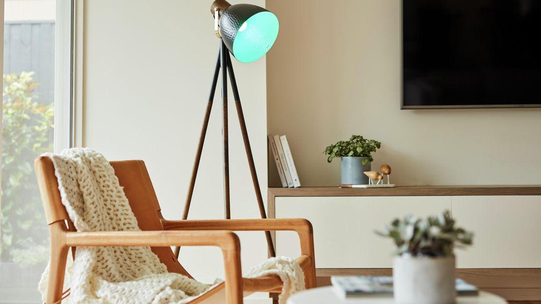 Light bedside a table.