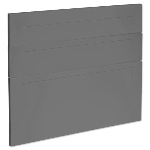 Kaboodle 900mm Smoked Grey Alpine 3 Drawer Panels
