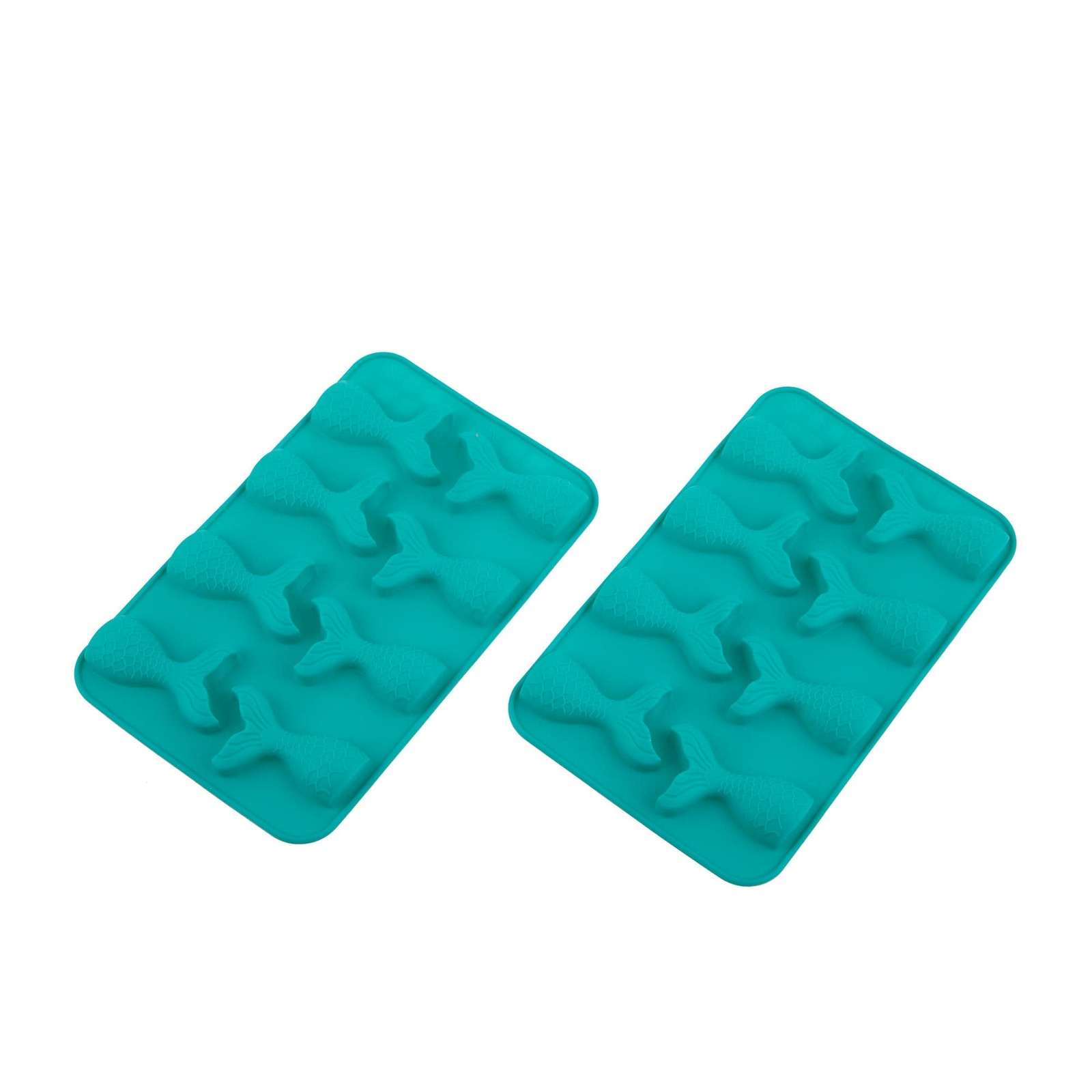 Daily Bake 2pc Mermaid Chocolate Mould Set 8 Cup Turquoise